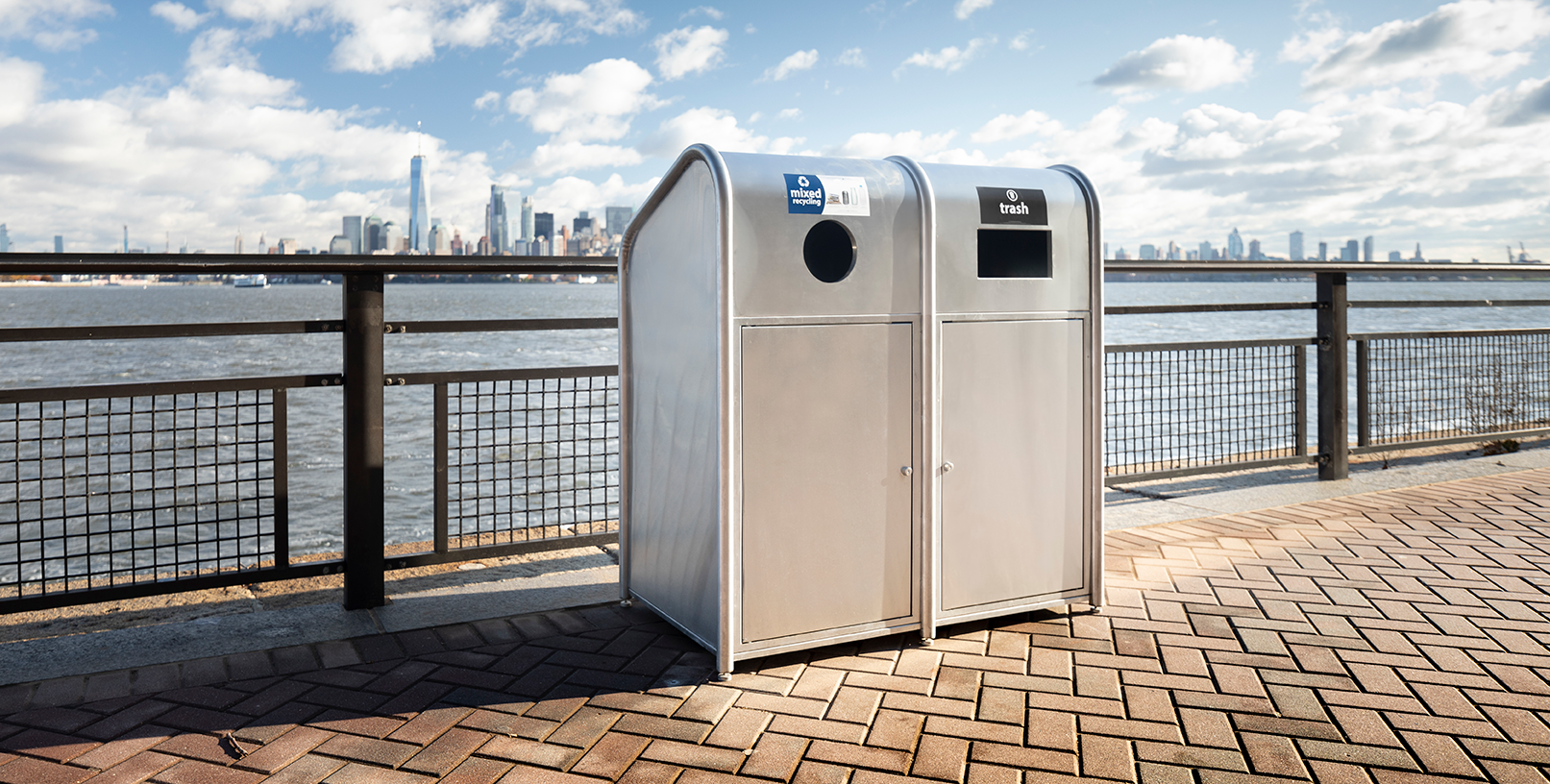 Recycle Across America Ellis Island Receptacle